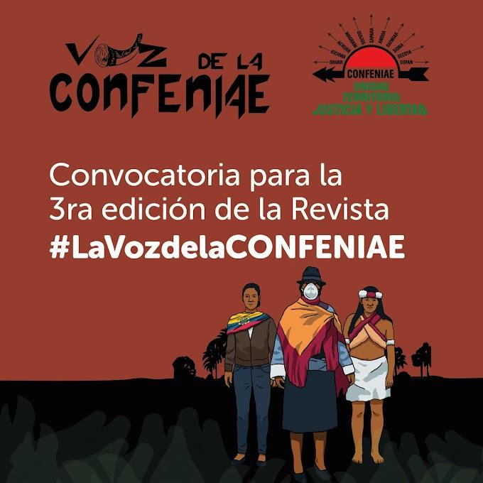 Convocatoria para la Revista La voz de la Confeniae