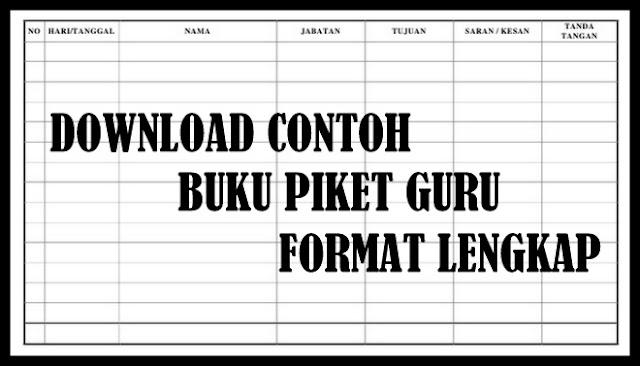Download Contoh Buku Piket Guru Format Lengkap