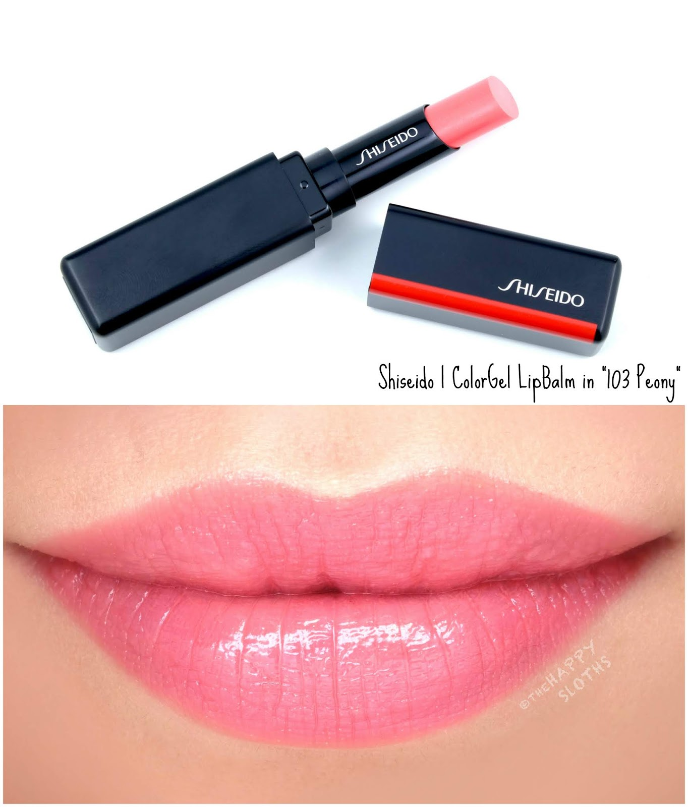 "Shiseido | ColorGel LipBalm in ""103 Peony"": Review and Swatches"