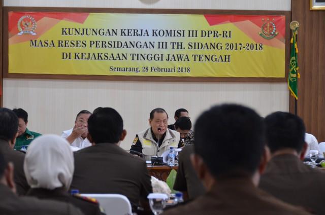 Komisi III Bahas Optimalisasi Tugas Kejaksaan Tinggi Jateng