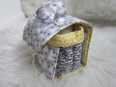 porta tazas, mug bag, costura, couture, sewing, tasse