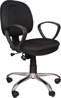 Rajpura 803 Cushioned Low Back Revolving Chair with push back mechanism in Black Fabric Office Executive Chair  (Black)