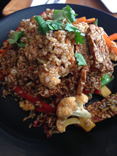 very rice-y, vegetable-y nasi goreng