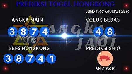 Prediksi Angka Jitu Togel Hongkong Jumat 07 Agustus 2020