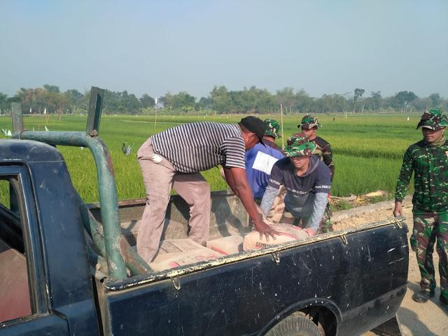 Droping Material Semen Ke Lokasi TMMD Reg 105 Kodim Klaten