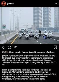 Kejanggalan dari Unggahan Jokowi Soal Tol
