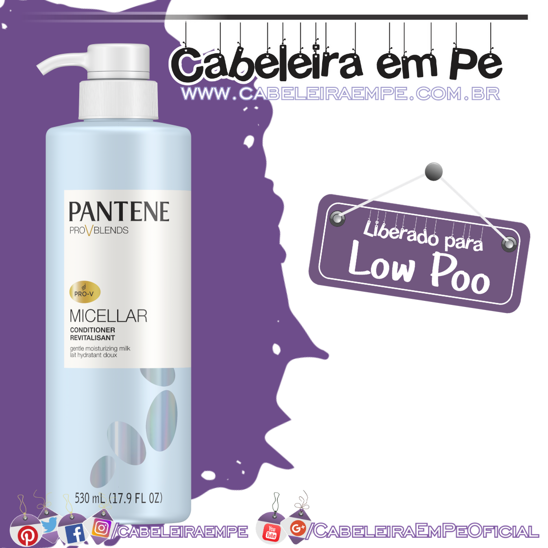 Condicionador Micellar - Pantene (Low Poo)