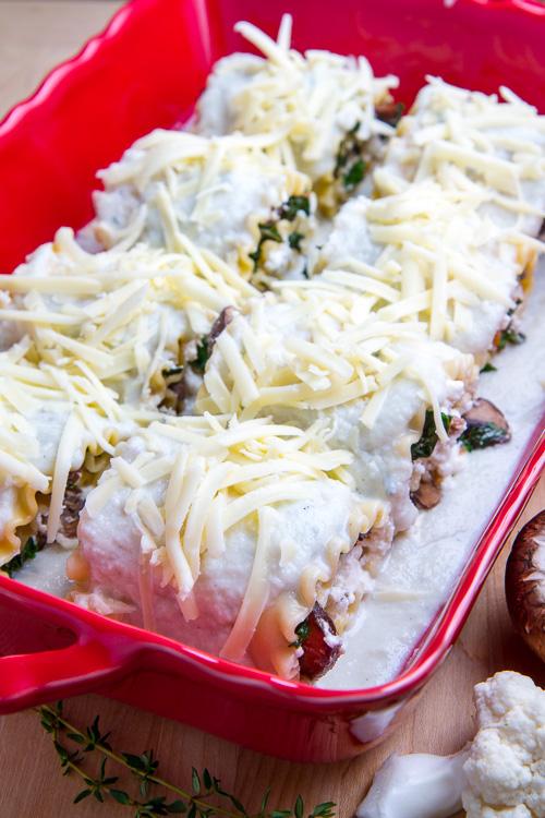 Rezept der Woche: Pilz-Lasagne Rollen mit Gorgonzola Sauce