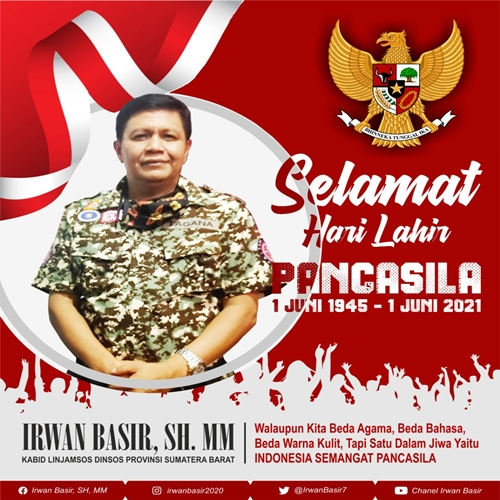 Hari Lahir Pancasila, Irwan Basir Datuk Rajo Alam Tebarkan Pesan Damai