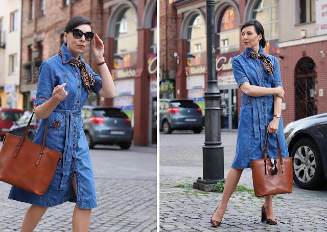 szmizjerka jeansowa stylizacje lato