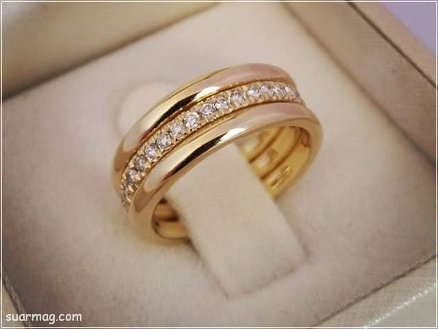 اشكال محابس ذهب 9   Gold Engagement Rings Forms 9