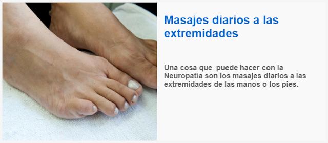 Una cosa que puede hacer con la Neuropatía son los masajes diarios a las extremidades de las manos o los pies