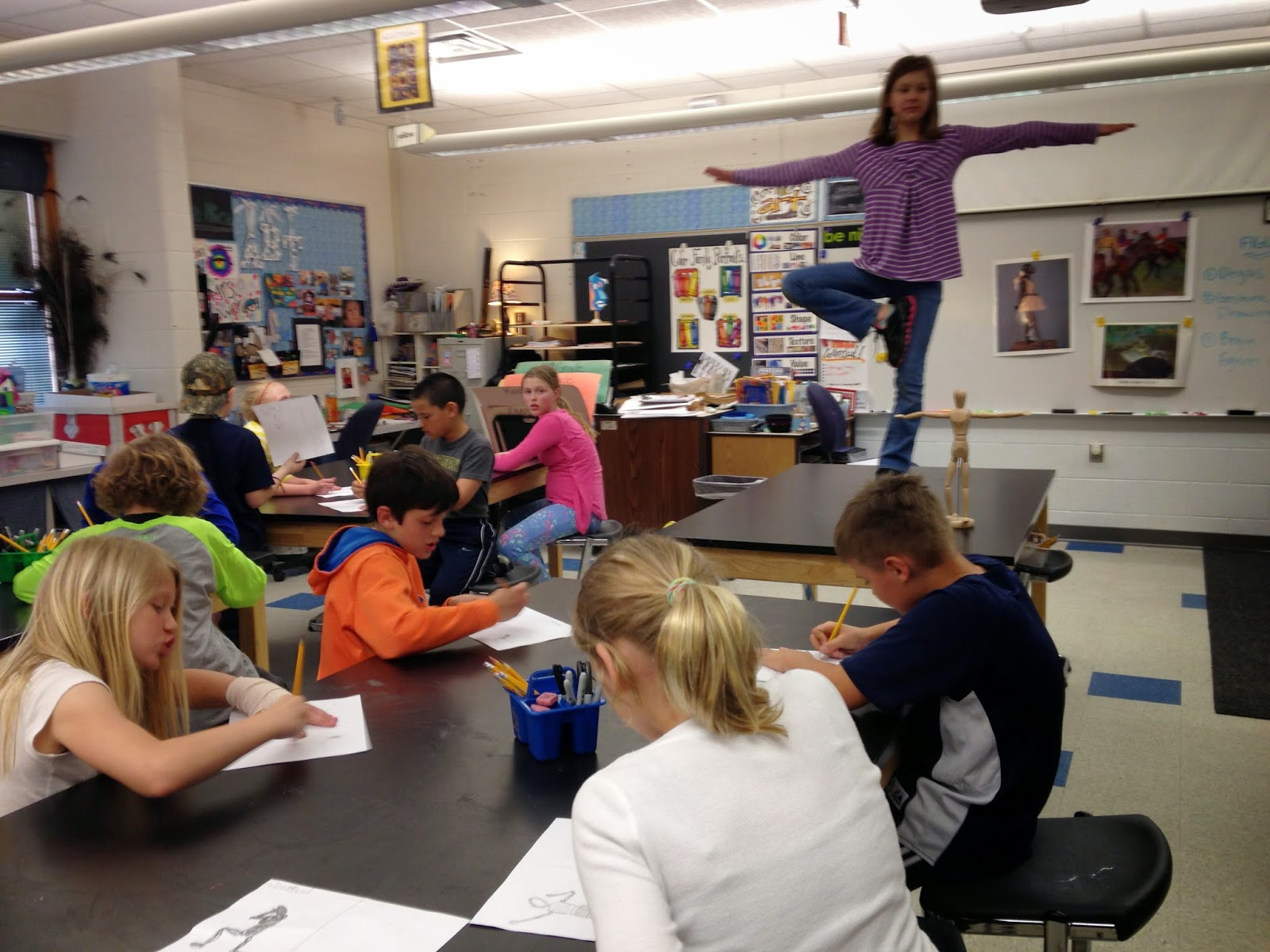 Jamestown Elementary Art Blog 4th Grade Figure Drawing