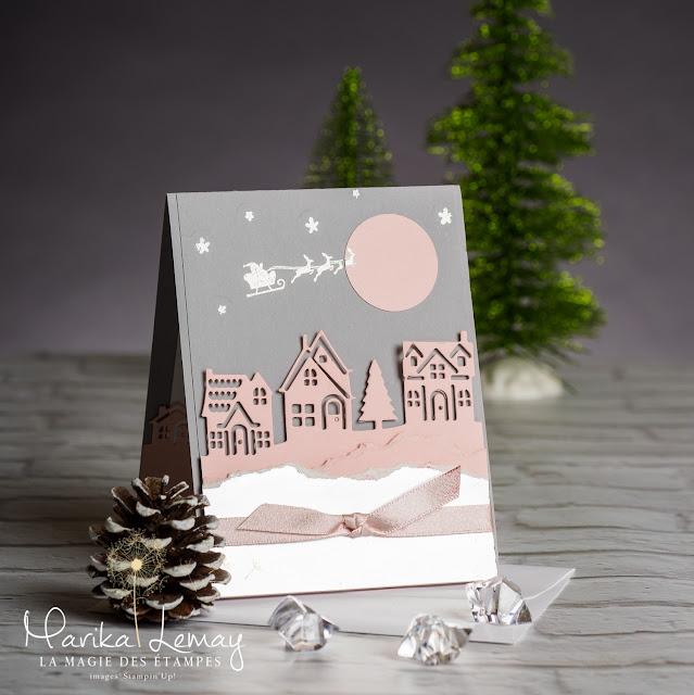 Carte de Noël Stampin' Up ! utilisant le jeu d'étampes Ensemble pour Noël
