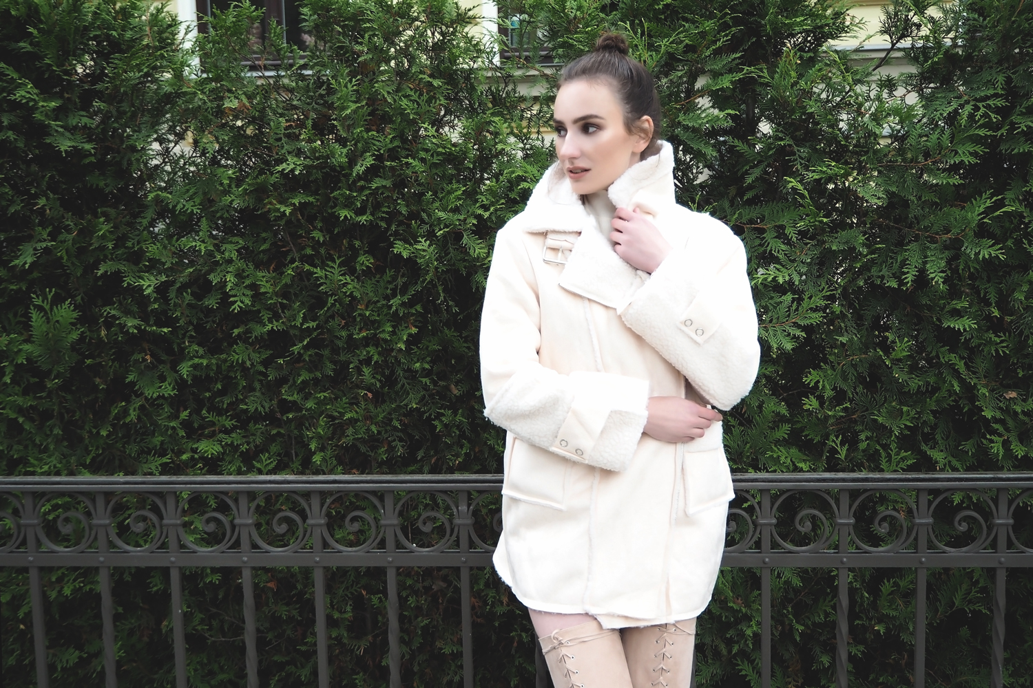Inspiration | Light Colored Shearling Coats