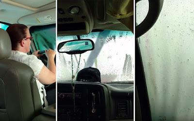 Να τι συμβαίνει αν ξεχάσεις ανοιχτή την ηλιοροφή στο πλυντήριο αυτοκινήτων (Video)