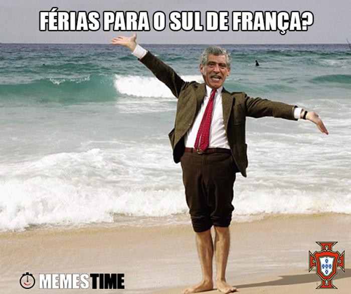Meme Fernando Santos – Férias para o Sul de França?