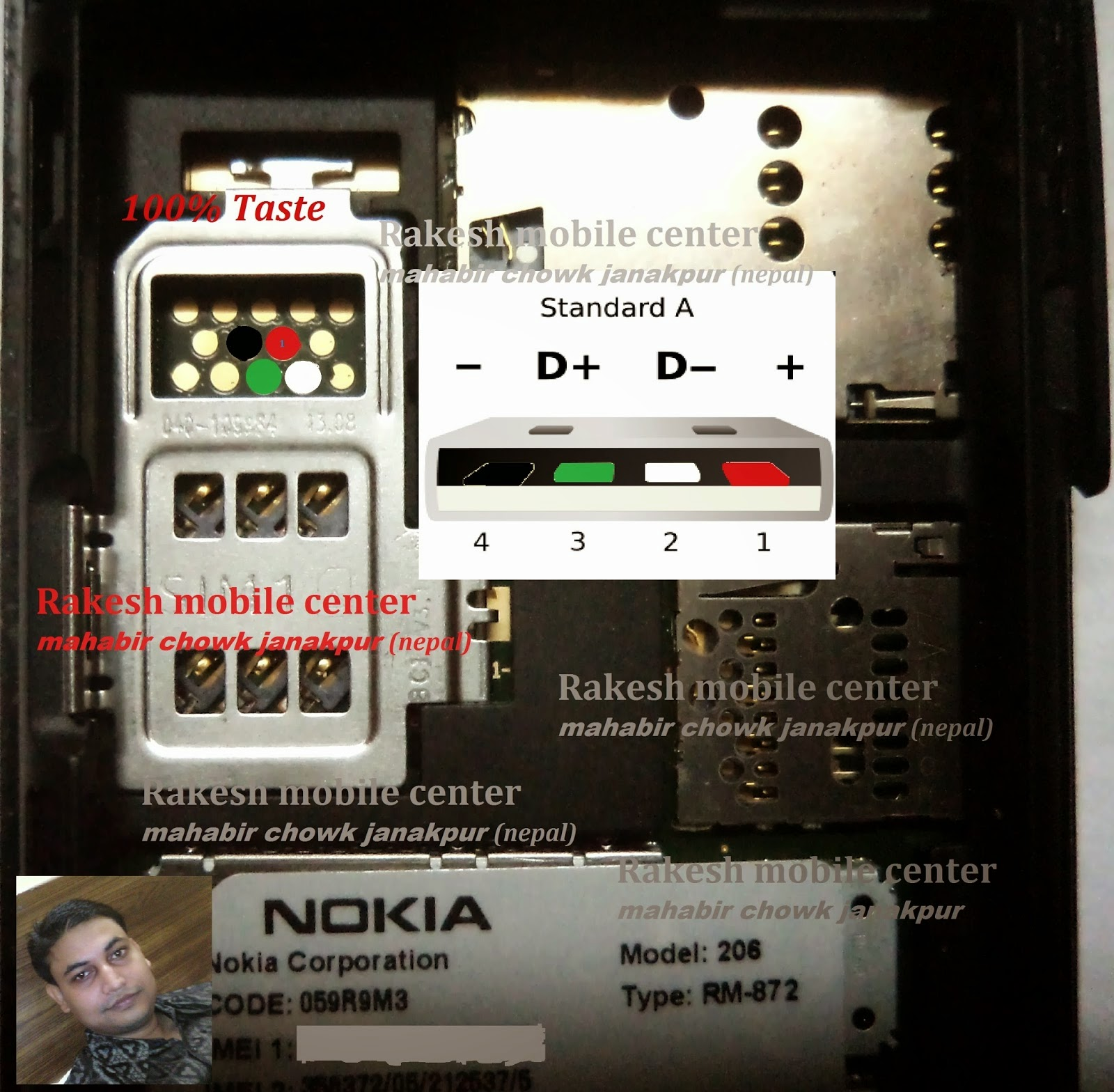 Nokia 206 or Nokia 2060 Usb Pinouts For Flashing   Onlinejaisalmer