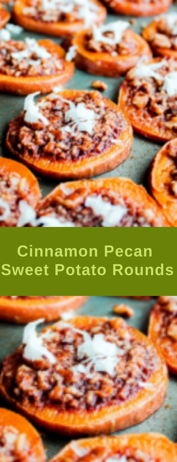Cinnamon Pecan Sweet Potato Rounds