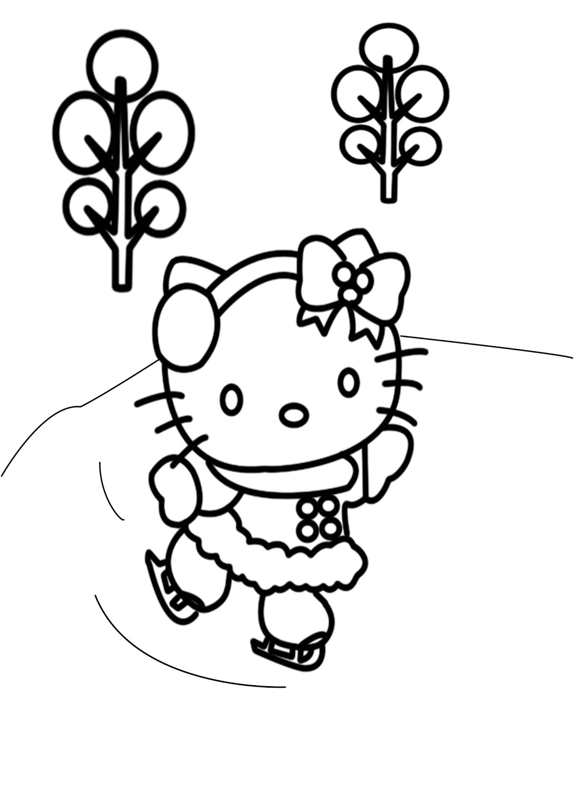 Coloring Pages Unblocked : Hello kitty activity learn to coloring