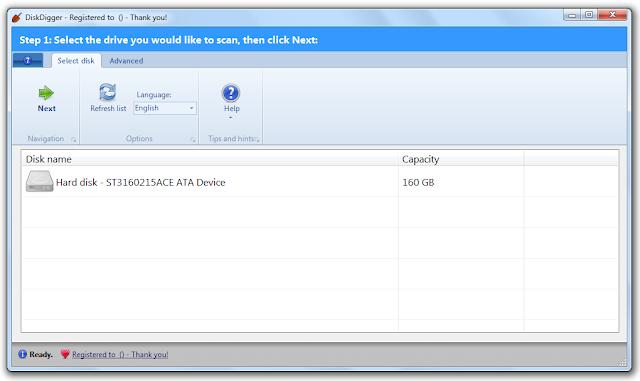 Screenshot DiskDigger 1.23.31.2917 Full Version