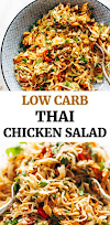 chopped thai chicken salad { video }