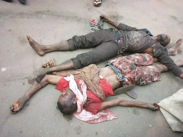 Photos: SARS gun down three dare devil armed robbers in Imo State