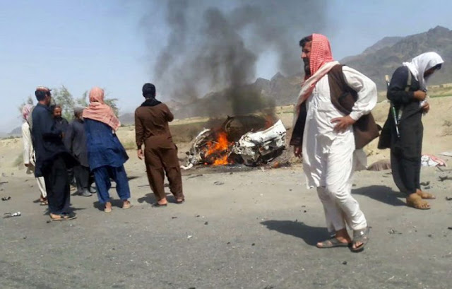 Mollah Mansour frappé par un drone en Afghanistan.