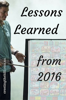 Midlife Monday ~ three lessons 2016 taught me