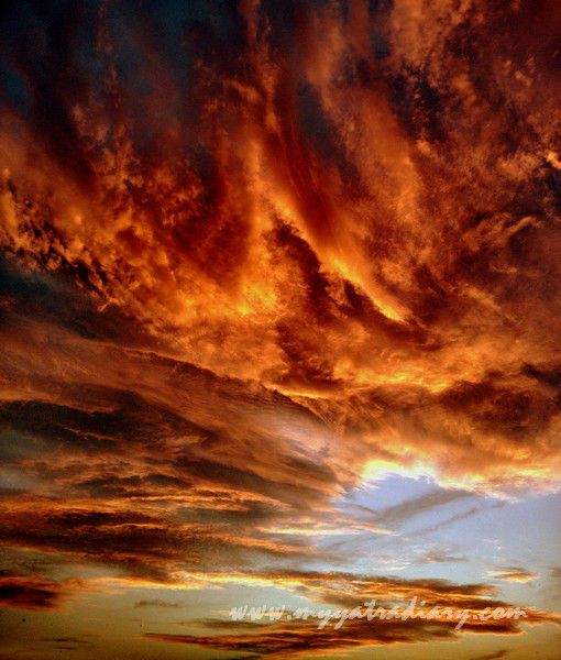 Fire in the sky, sunset in Jaipur