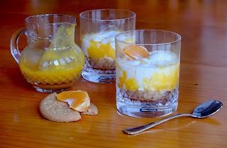 Reto Alfabeto dulce XVII: Helado de yogur con galleta y sirope de mandarina