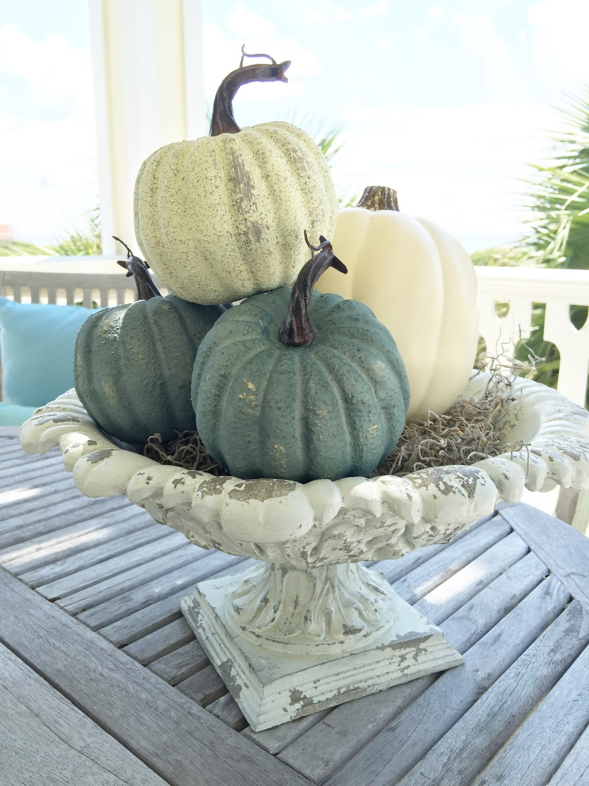 Adventures In Decorating Our 2015 Fall Kitchen: Sea Glass Cottage : Coastal Fall Decor