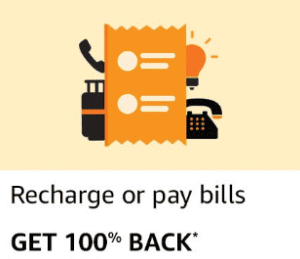 [account specific] Amazon pay offer- get 100% cashback upto Rs 40 on mobile recharge.