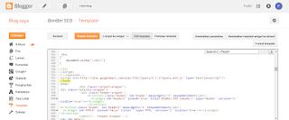 Memasukkan kode analytics di blog