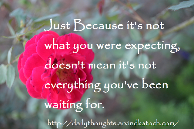 Waiting, Everything, expecting, Thought, Quote, Daily