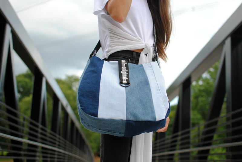 DIY Upcycled Denim Satchel