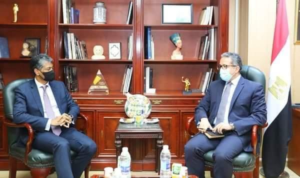 -وزير السياحة والآثار يستقبل رئيس شركة ماريوت العالمية ومنطقة أوروبا والشرق الأوسط وأفريقيا
