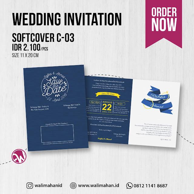 Undangan Pernikahan Tangerang C03 - Walimahanid | 0812-1141-8687