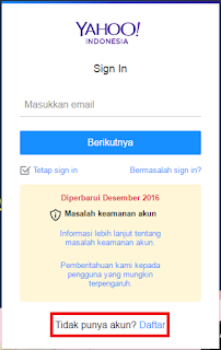 Cara Membuat Account Mail di Yahoo