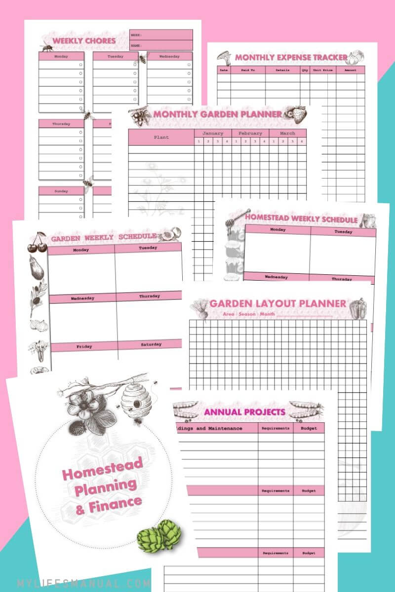Homesteading planner printables