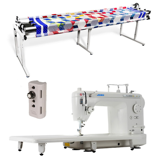 """Juki TL-2000Qi 9"""" Long Arm Quilting Machine, Grace Continuum Quilting Frame and Grace Single Prong Speed Control"""
