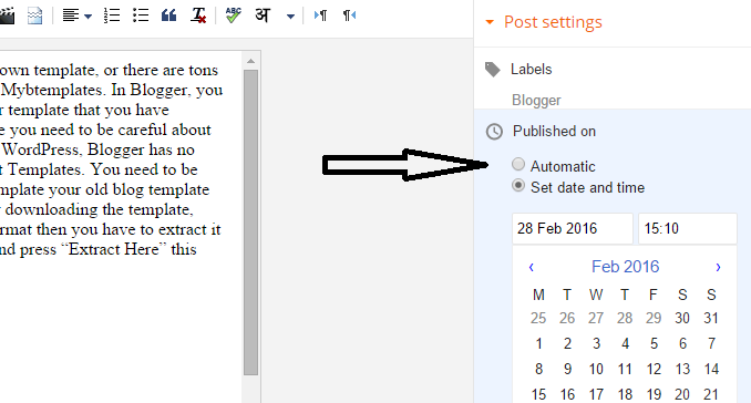change publish post