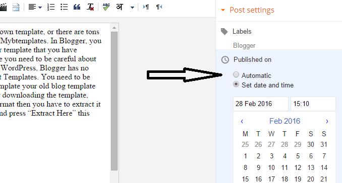 change publish post