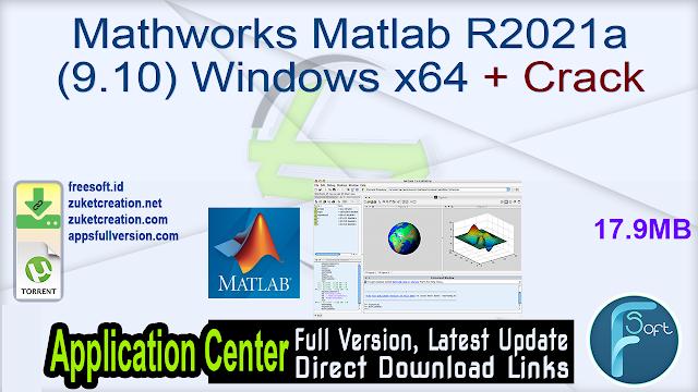 Mathworks Matlab R2021a (9.10) Windows x64 + Crack