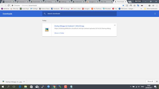 Cara mengaktifkan Material Desain browser Google Chrome