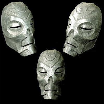 Skyrim Vokun Dragon Priest Mask in Aluminium 3D Print