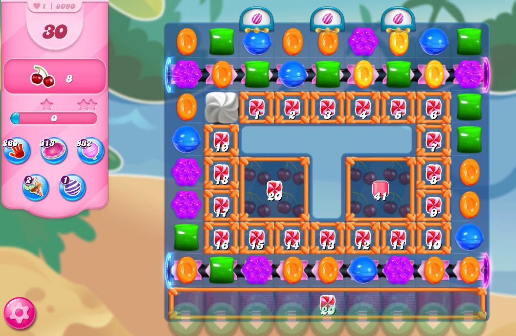 Candy Crush Saga level 8090