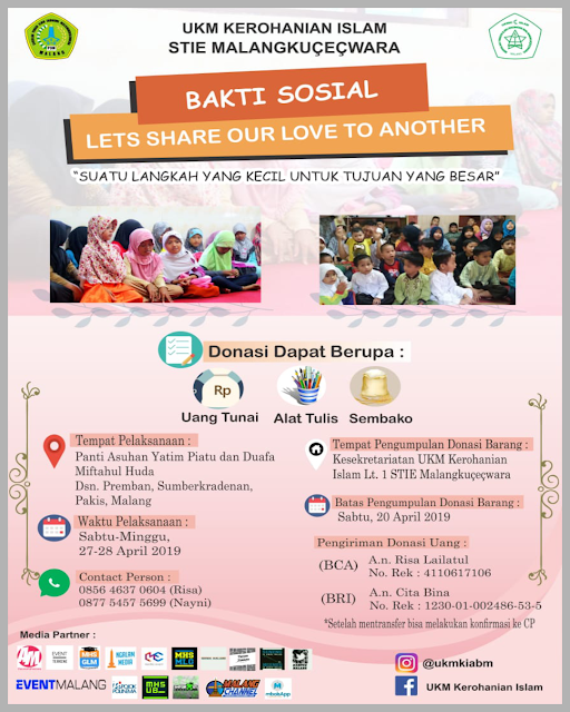 BAKTI SOSIAL - Lets Share Our Love to Another