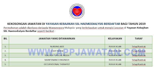 Yayasan Kebajikan SSL Haemodialysis Berdaftar