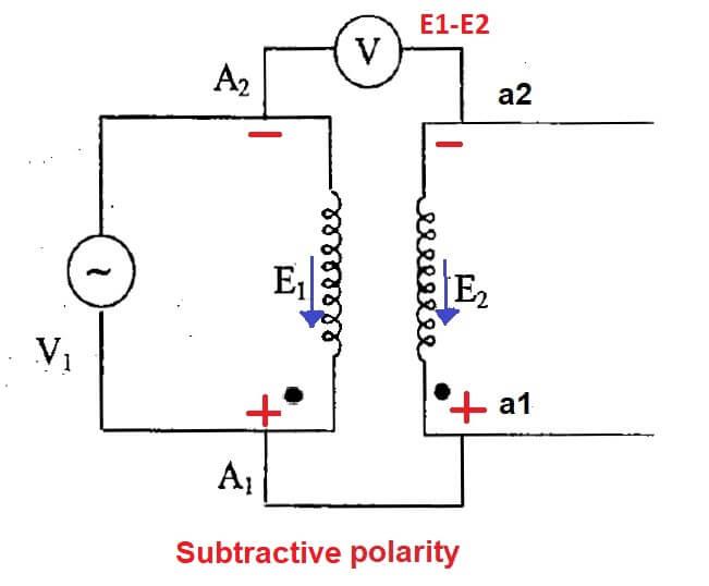 polarity test on transformer subtractive polarity